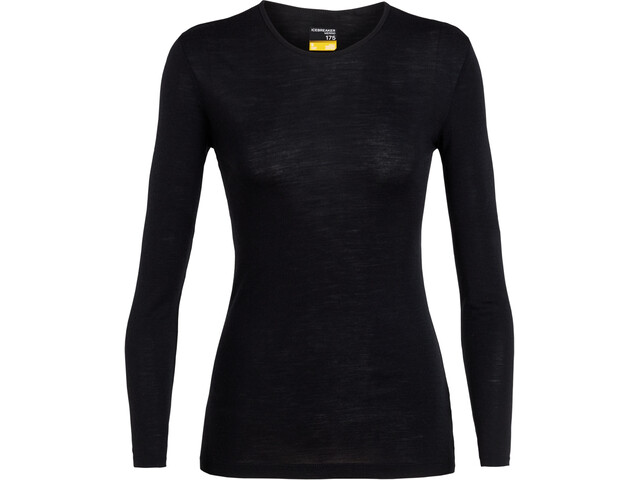 Icebreaker 175 Everyday T-shirt manches longues à col ras-du-cou Femme, black